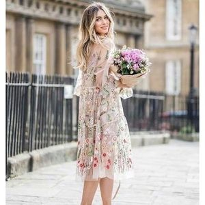 H & M Embroidery Dress Floral
